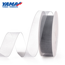 YAMA 1/4 inch 6mm Black White Red Color Solid Sheer Organza Silk Ribbon for Gift Package Wedding Decoration 400yards/lot