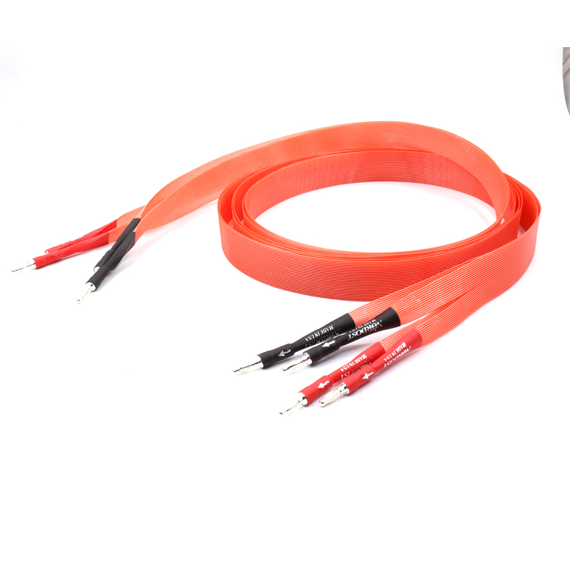 Free shipping pair Nordost Red Dawn audio speaker cable hifi loudspeaker cable with silver plated banana plug pair nordost hi end red dawn telfon audio speaker cable 2 5m 3m gold plated banana plug