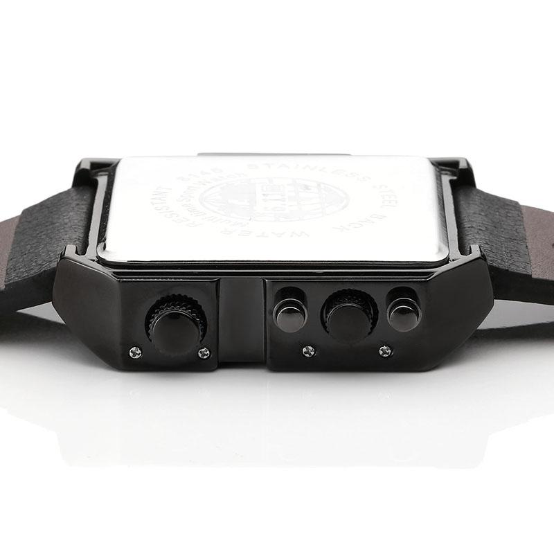 Topdudes.com - Top Men's Fashion Waterproof Leather Led Digital Wristwatches Reloj Hombre