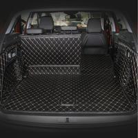 fiber leather car trunk mat for peugeot 3008 2016 2017 2018 2019 2nd generation car accessories