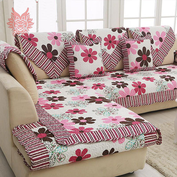 Aliexpress European Style Fl Print Sofa Cover 100 Cotton Cloth Quilting Slipcovers Winter Canape For Top Fashion Sofasp1191 From Reliable