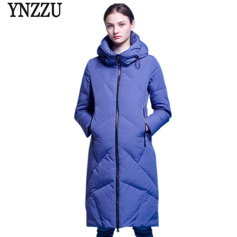 Brand Elegant Women s Down Jacket 2018 Winter Solid 90 White Duck Down Coat Women Warm