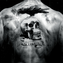 The Expendables Eagle Skeleton Arm Waterproof Temporary Large Back Tattoo Stickers 19x12cm