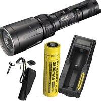 NITECORE SRT7GT Flashlight Set CREE XP L HI V3 RGB UV Flashlight max 1000LM beam distance 450m torch + 18650 battery + charger|cree xp-l|cree xp-l hiuv flashlight -