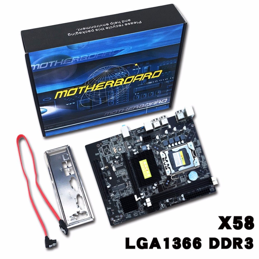 X58-1336 материнской LGA1366 Поддержка DDR3 памяти USB2.0 24/7 SATA 3 ГБ/сек. разъем