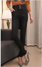 Оптовая зима запад урожай плюс размер S-4XL утолщенной шерстяной эластичный пояс империя ковбой denim карандаш джинсы женские D191