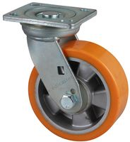 EDL Heavy Duty 6 480Kg TPU Castor Wheel Alu Centre Plate Swivel Rotation Industrial Caster Wheel