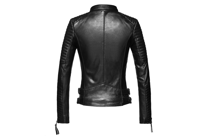 100% Real Sheepskin Coat Female Genuine Leather Jacket Short Slim Jackets For Women Outerwear 17
