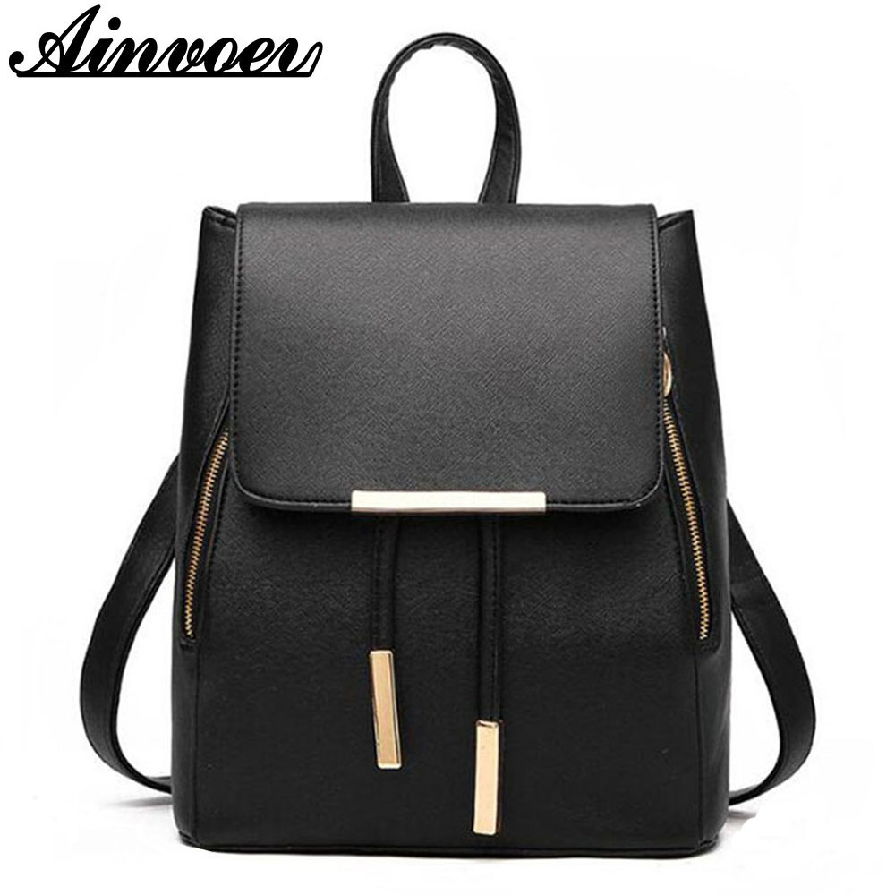 Ainvoev Backpack Mochila Bookbag School-Bag Teenage Candy-Color Girls High-Quality Fashion