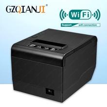 GZ8006 Pos บิลคุณภาพสูง 80 มม. ความร้อน USB หรือ wifi บลูทูธเครื่องพิมพ์อัตโนมัติเครื่องตัด 80 มม.