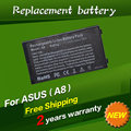 JIGU New Laptop battery for ASUS A8 A8000 F8 Z99 N80 N81 X80 X81 series, A32-A8 6 cells, Free shipping