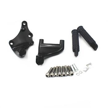 Motorcycle Black Rear Passenger Foot Pegs Pedal Mount Bracket For Harley Sportster 1200  883 2014-UP