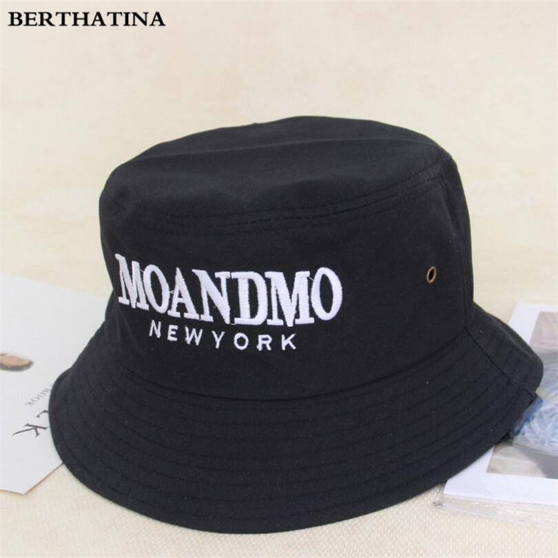 55078f56c3c 2018 New Sunscreen Men Women Bucket Hat Caps Spring Summer Solid Color  Letter Fisherman Casual High Quality Cotton Simple Hats-in Bucket Hats from  Apparel ...