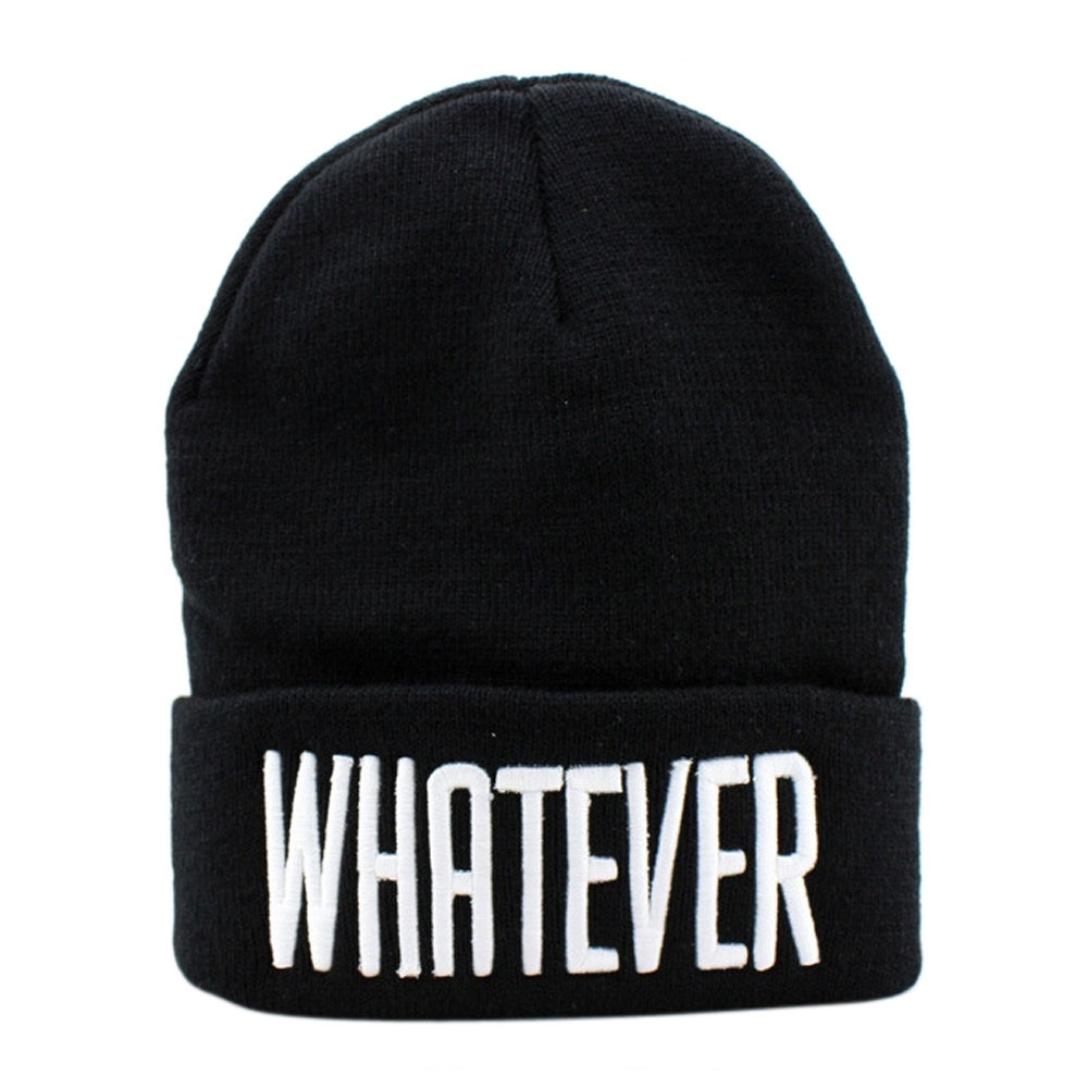 2017 KLV New Fashion Winter Black Whatever Beanie Hat And Snapback Men And Women Cap#25 shocking show 2016 new design winter black whatever beanie hat and snapback men and women cap