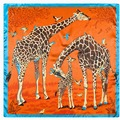 "New Women Scarf Rayon 24"" 60cm Kerchief Animal Giraffe Pattern Women Shawl Scarves Hot Sale Clothing Accessories SP16316"