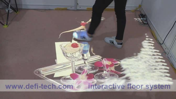 interactive wall projection promotion-shop for promotional