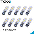 10 pcs/lot Bright Car Styling Clearance lights 12V Interior Led T10 2835 W5W 6 SMD Wedge Marker side Buld lamp waterproof Dome