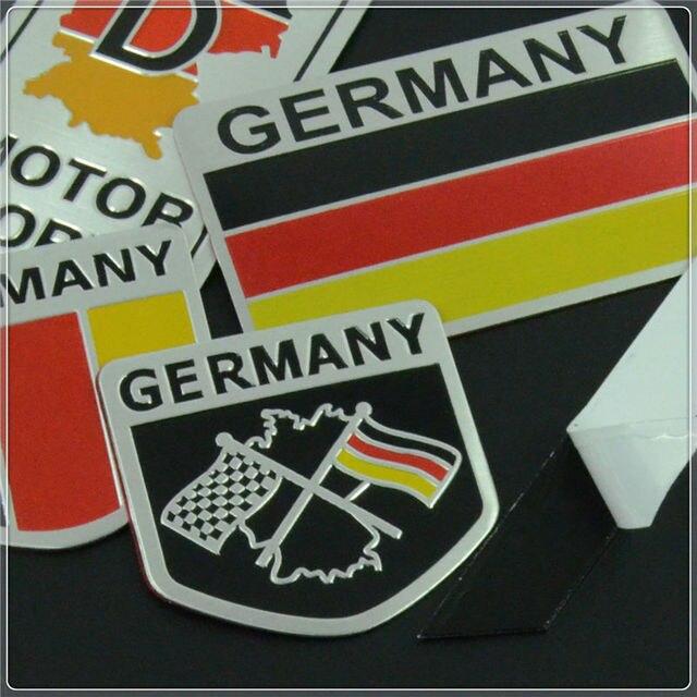 Germany German Flag 3D Car Stickers Aluminium Emblem Badge