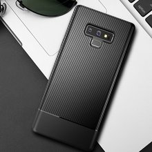 Carbon Fiber Texture TPU Cover for Samsung Galaxy S8 S9 S10 Plus Case Soft Silicone Back S10e Note 8 9