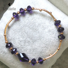 Fashion Bracelets & Bangles 18K Rose Plated Crystal Jewelry For Women 3A51310-768(WZ) Fashion Jewelry>>Bracelets free shipping womens jewelry 18k gold filled cute austrian crystal amazing cat s eye stone fashion bracelets