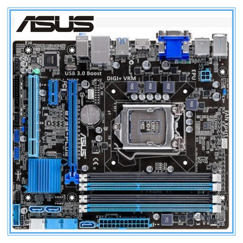 original ASUS motherboard B75M-PLUS LGA 1155 DDR3 boards 32GB USB2.0 USB3.0 mainboard Desktop motherborad Free shipping