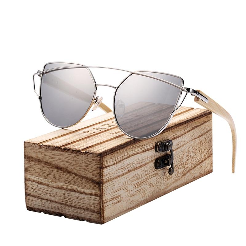 HTB1LCJik0cnBKNjSZR0q6AFqFXak BARCUR Bamboo Cat Eye Sunglasses Polarized Metal Frame Wood Glasses Lady Luxury Fashion Sun Shades With Box Free