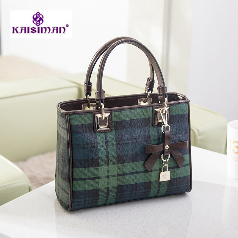 Luxury Brand Women Bags Leather Women Handbag Plaid Stripe Shoulder Crossbody Bags Diamond Lattice Handbag Casual Women Tote Bag