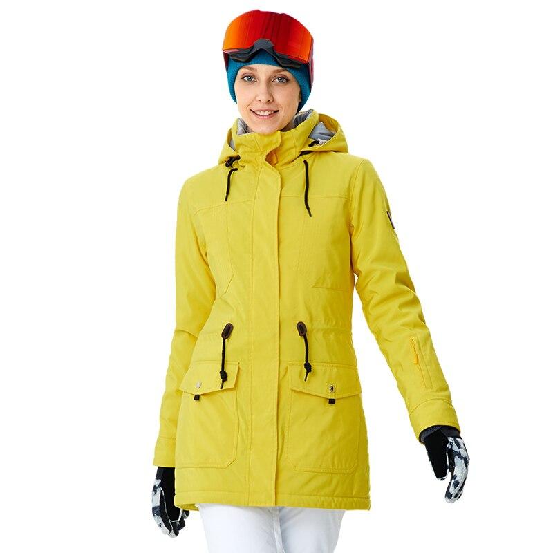 RIVIÈRE qui COULE Marque Femmes Snowboard Vestes Pour L'hiver Chaud Mi-cuisse Sports de Plein Air Vêtements Haute Qualité Sport Veste # a8014