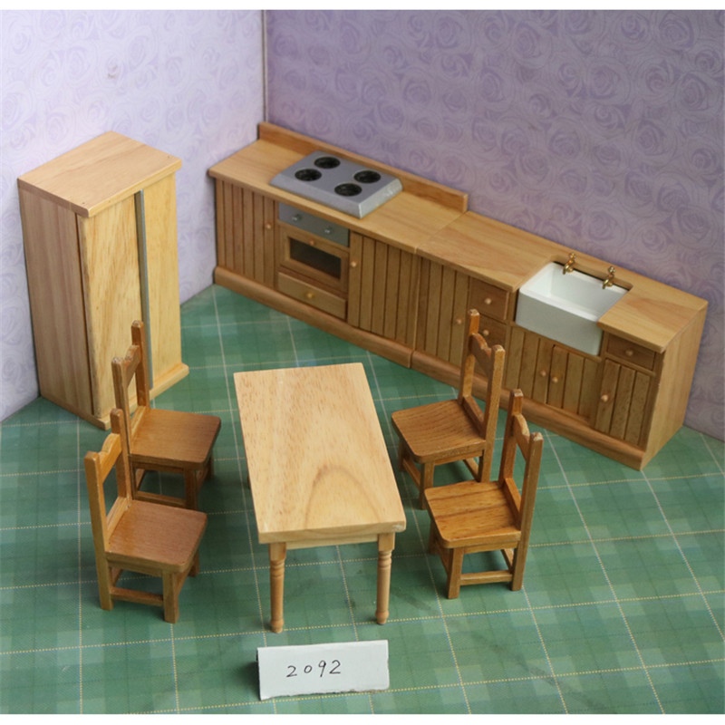 Doub K 1:12 Dollhouse Furniture toy for dolls simulation Miniature table set stove model pretend play toys for girls childrenDoub K 1:12 Dollhouse Furniture toy for dolls simulation Miniature table set stove model pretend play toys for girls children