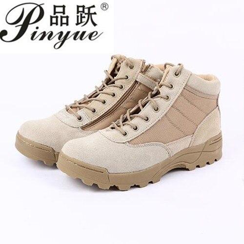 где купить Men's Fashion Outdoor Genuine Leather Anti-slip Military Combat Boots Men Army Tactical Short Ankle Boots Shoes Botas Hombre по лучшей цене