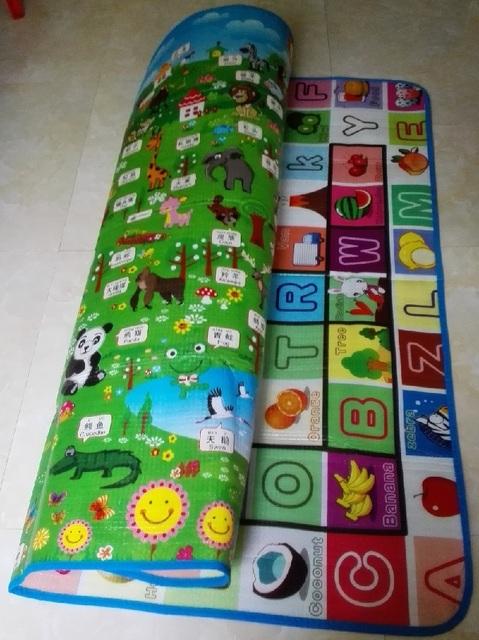 Muitos Estilos Tamanho Dupla Face Tapetes de Jogo Do Bebê Tapete Tapete Para As Crianças Presentes Brinquedos de Crianças Em Desenvolvimento