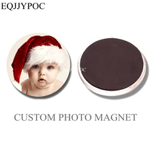 10PCS DIY Personal Custom Fridge Magnet  Love Photo Couple Baby Pet Family logo Glass cabochon 30MM Refrigerator Magnets Sticker