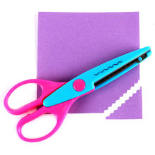 Handcraft Photo Album Corrugated Scissors Scrapbooking DIY Craft Zig Zag Scissor Kids Manual Tools School Paper Pinking Shear(China)