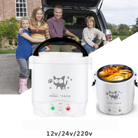 22%,mini rice cooker electric rice machine Non stick Coating with Steaming Basket home 220V Or Car 12V 24V Enough For 2 Persons