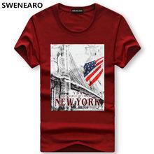 SWENEARO hombres camisetas de marca t camisa Verano de impresión de dibujos  animados de EE. UU. Bandera t camisa de los hombres . 212951120bc