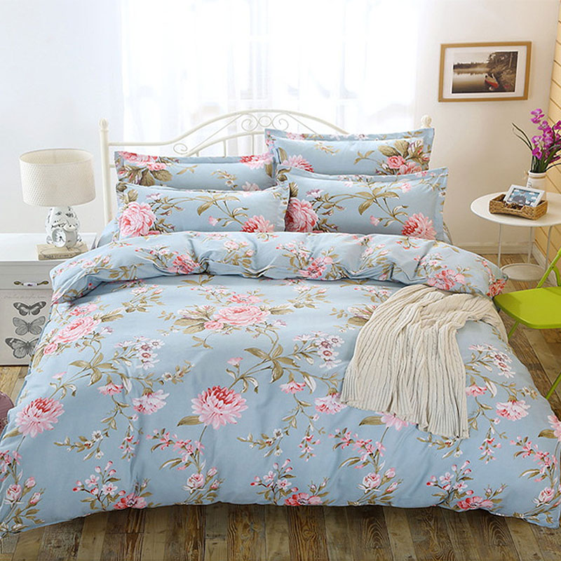 17 Models Four Piece Set Cotton Quilt Sheets Pillowcase Cushion Cover Flocked Home Fashion Printing Breathable Four Piece Sets17 Models Four Piece Set Cotton Quilt Sheets Pillowcase Cushion Cover Flocked Home Fashion Printing Breathable Four Piece Sets