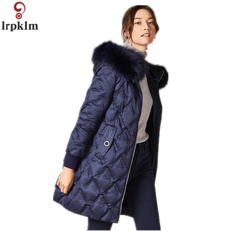 Brand   Down   Jacket 2019 Winter New Ms   Down   Jacket Fox Fur Collar White Duck   Down     Coat   FemaleThickening Women's Winter Jackets