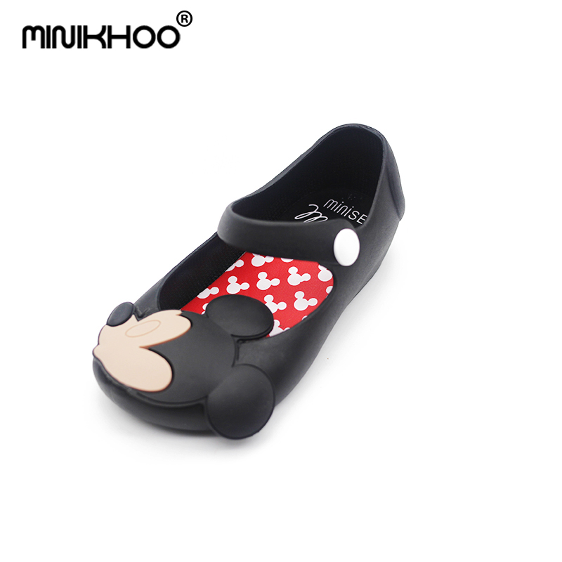 Mini Melissa Girls Jelly Sandals 2018 Kids Sandals Jelly Shoes Mickey Soft Outsole Children Minnie Sandals Rain Shoes 13-15.5cm