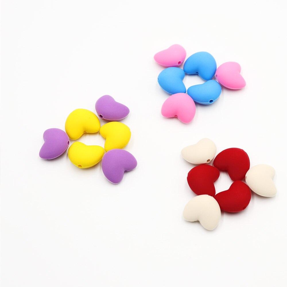 TYRY.HU 10 дана Ұнтақ Heart Shaped Silicone Beads Teething - Балаға қамқор болу - фото 2