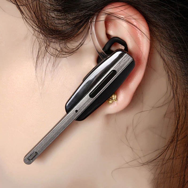 Mayitr New Wireless Handsfree Stereo Earphone Bluetooth Headset Single Channel Mic Earpiece For Samsung HM7000 with USB Cable