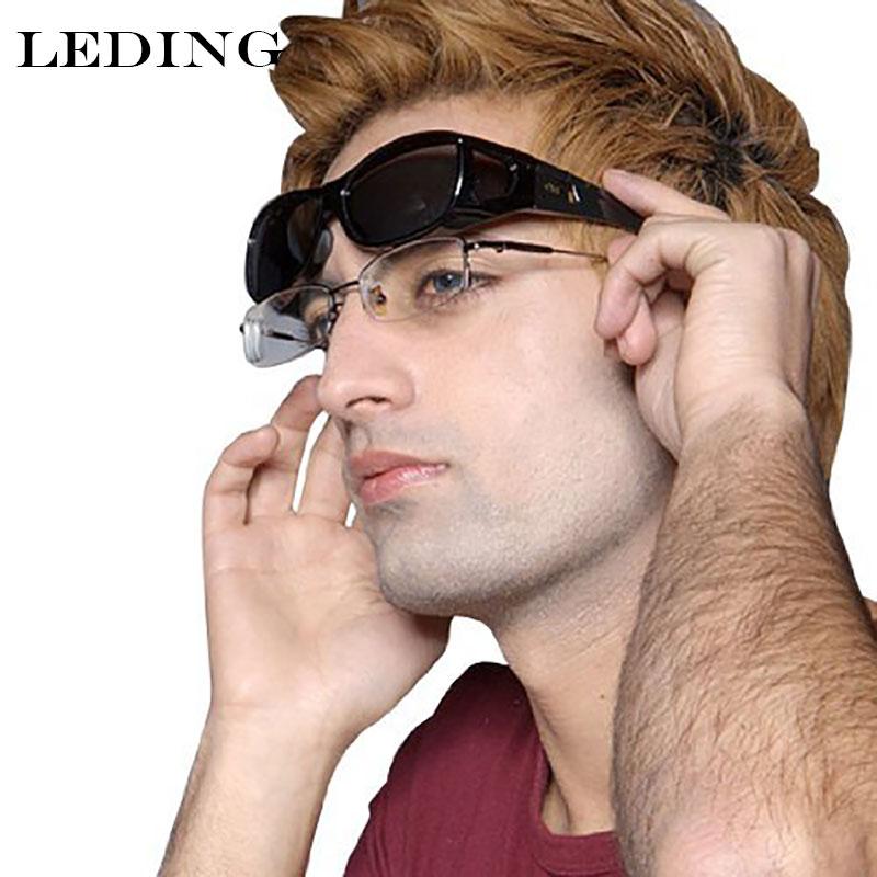 0f6849e3708 LEDING Polarized Lens Covers Sunglasses Fit Over Wear Over Prescription  Glasses Men Women Medium nearsighted sun glasses case