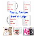 DIY Photo Coffee Mug Printing Custom Picture 11OZ White Ceramic Travel Coffee Mugs Personalized Text Funny Mugs Tea Cup Gift Mug