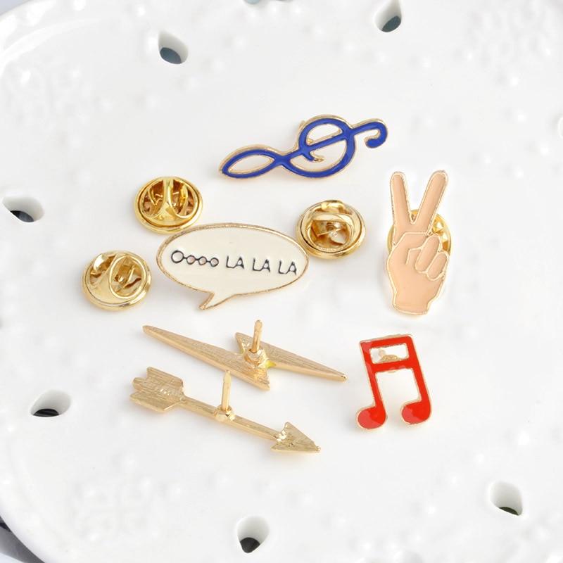 Moda emalia broszka szpilki przypinki na guziki 6 sztuk / zestaw Cute - Modna biżuteria - Zdjęcie 5