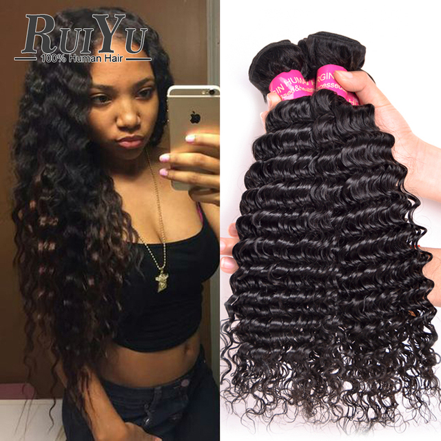 Malaysian Deep Wave Virgin Hair 3 Bundles 7A Malaysian Virgin Hair Deep Wave Malaysian Hair Weave Curly Weave Human Hair Bundles