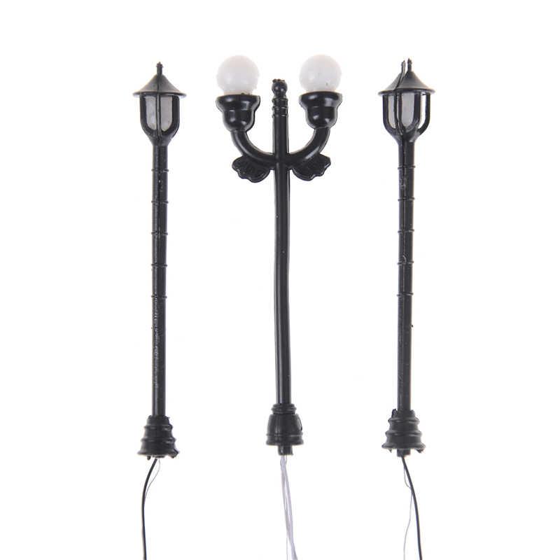EHBqna 5 sztuk modelu lampy ogrodowe czarny układ pojedyncze reflektory przednie latarni światło krajobrazu Party gry Role Play Kid prezent nowy