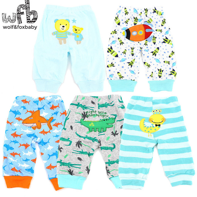wobfaobxylf 5pcs/pack PP pants trousers for 0-24months Baby