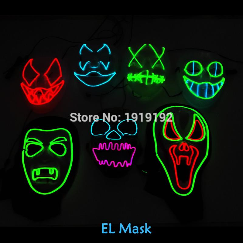 HTB1LCLTRVXXXXXaXpXXq6xXFXXXT - Mask Light Up Neon LED Mask For Halloween Party Cosplay Mask PTC 260