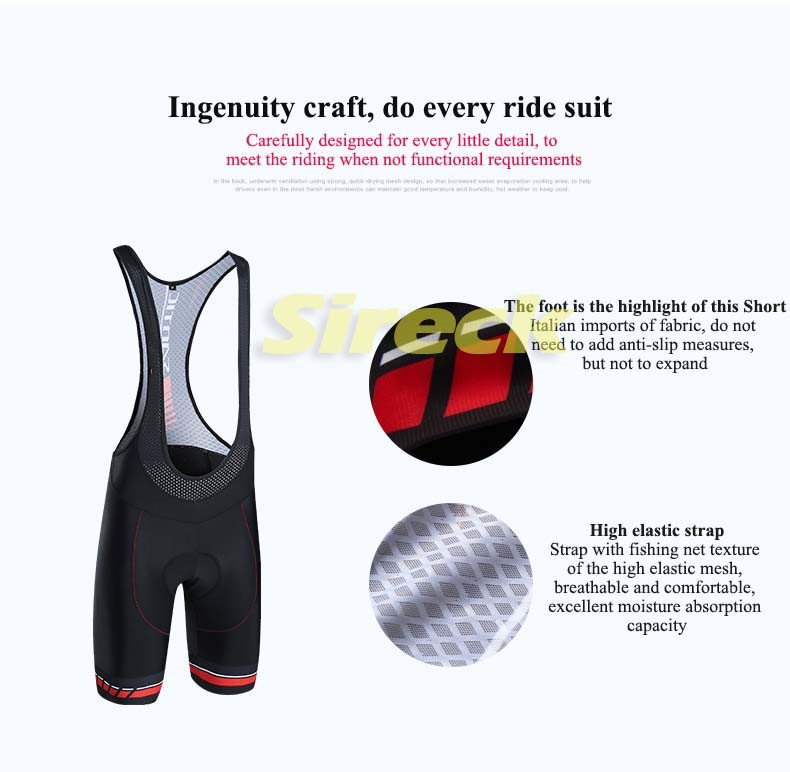 Santic Cycling Shorts 2019 Men Pro Road Bike Shorts Imported Padded Downhill MTB Bicycle Shorts Mesh Breathable Bermuda Ciclismo