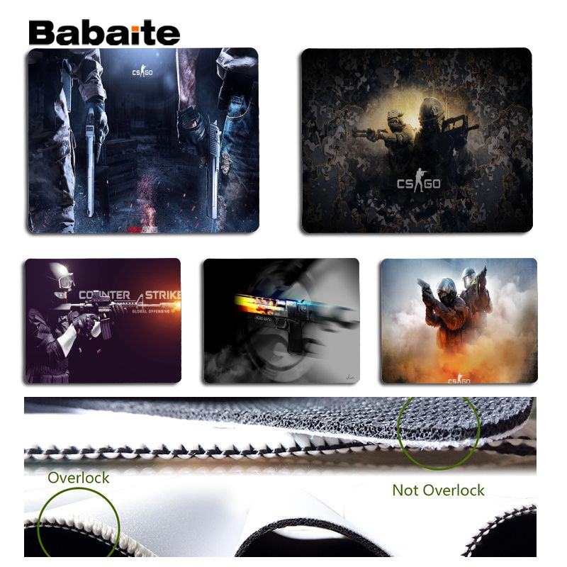 Babaite Your Own Mats CS Go Large Mouse pad PC Computer mat Size for 18x22cm 25x29cm Rubber Mousemats ...