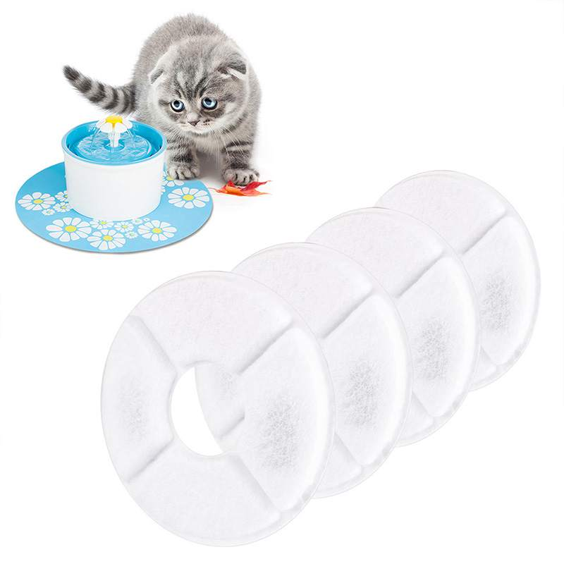Cat Feeder 4pcs Charcoal Filter Activated Carbon Filters Replacement Drink Water Fountain For Pet Cat Dog